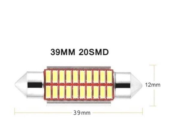 4 x Lampada luz LED 5W C10W Super brilhante 4014 SMD Canbus 39MM