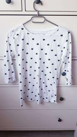 Biała bluzeczka w serca Sinsay