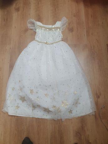 Sukienka bal karnawałowy księżniczka wrozka aniołek9-10lat 134-140