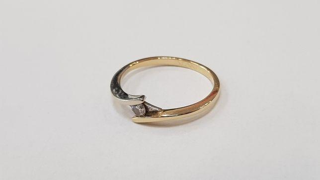 Apart! Przepiękny pierścionek + brylant 0.04 CT/ 585/ 1.39g/ R10