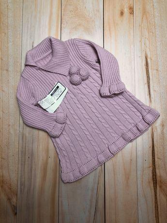 Новое трикотажное платье на девочку 6-9 месяцев, платье на девочку