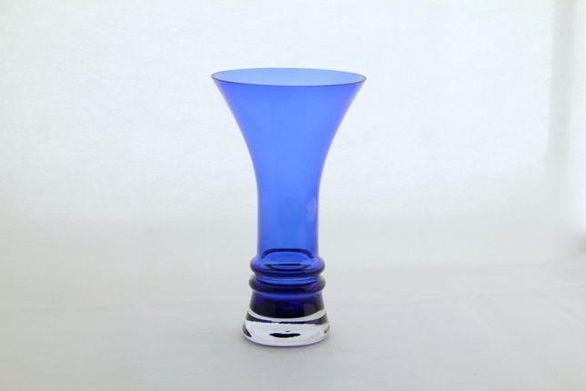Wazon szklany barwiony w masie wysokość 20cm PRL vintage New LOOK