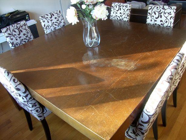 Mesa de jantar 1,60x1,60 Area Store e 8 Cadeiras