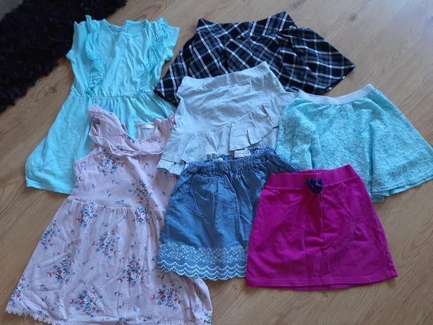 Zestaw 2 sukienki i 5 spódniczek 122/128