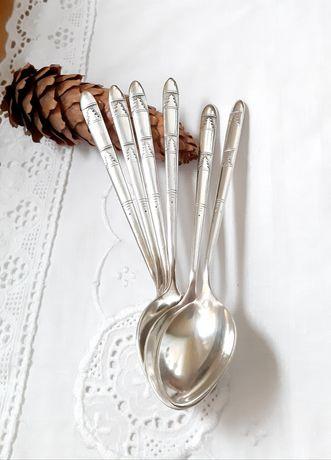 Ложечки чайные, ёлочки, мельхиор в серебре