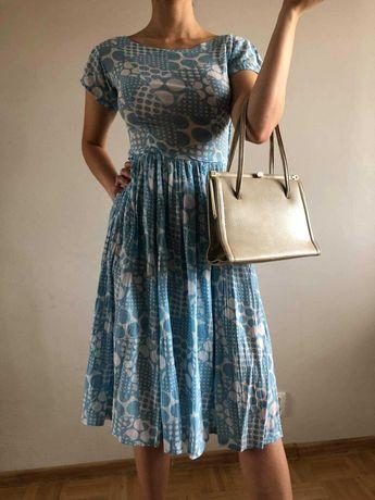 sukienka, lata40, vintage, handmade
