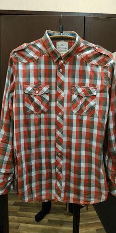 Рубашка клетка с погонами xl