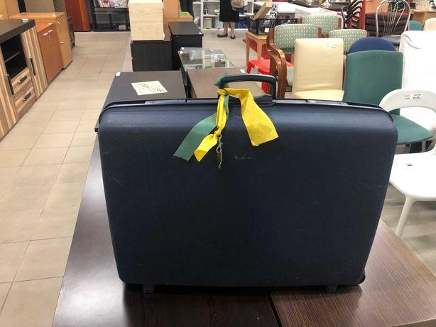 Granatowa walizka Samsonite 80 z kluczykiem