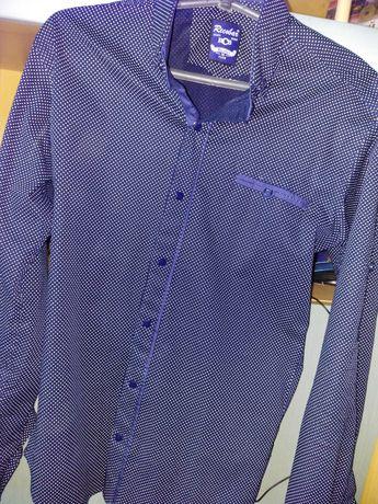 Рубашка мужская синяя