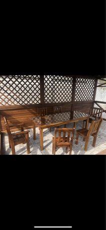 Стол деревянный со стульями