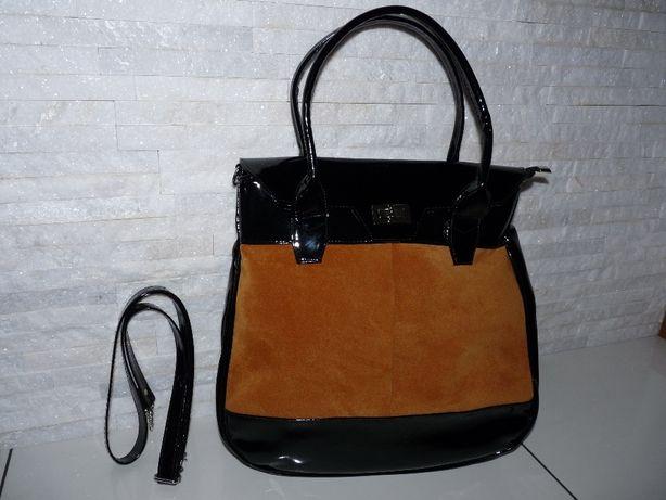 Nowa piękna torba , rudo czarna bardzo pakowna.