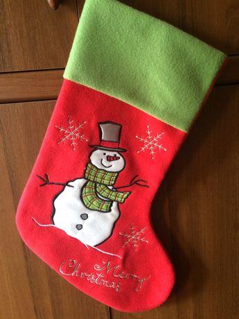 Новогодний сапог сапожок носок для подарков