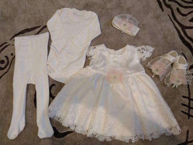 Детское нарядное платье. Набор одежды