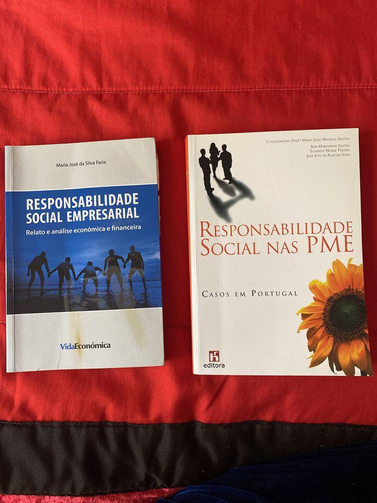 """Vendo livros """"Responsabilidade social empresarial"""""""