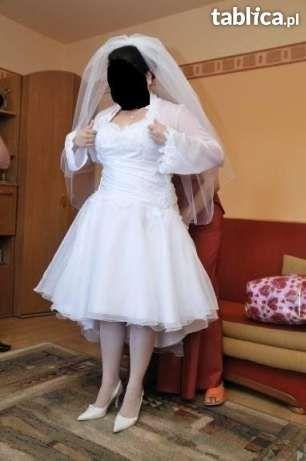 Wyjątkowa krótka suknia ślubna