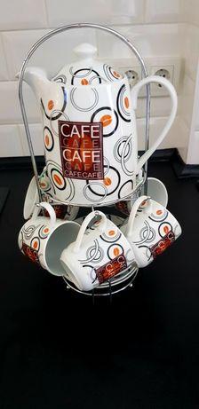 Кофейный сервиз,  набор, на подставке ROYAL CERAMICS