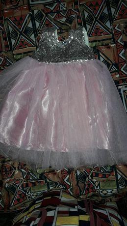 Платье на годик 74-80