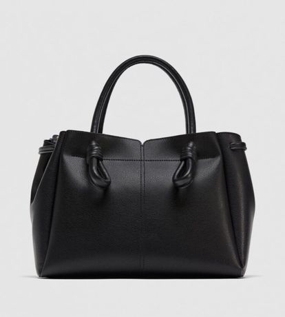 Torebka Zara shopper czarna