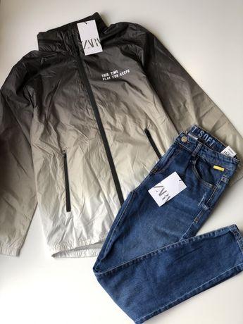 Новые джинсы Zara на мальчика 10-11-12 лет,штаны,ветровка