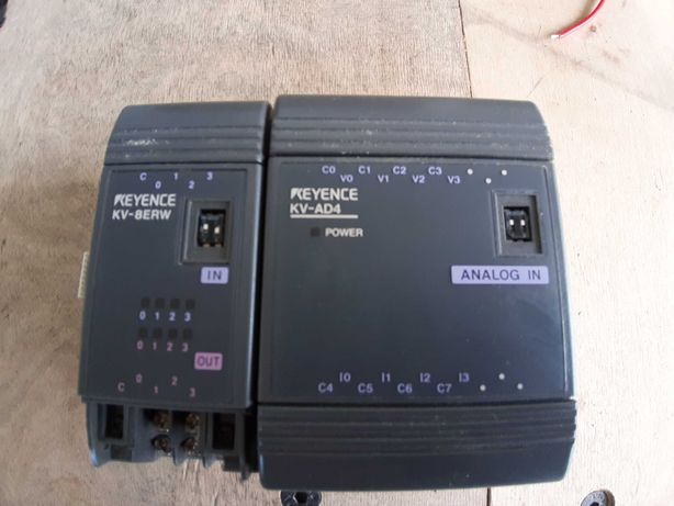 PLC KEYENCE moduł cyfrowy we/wy KV-8ERW, moduł we/wy analog  KV-AD4