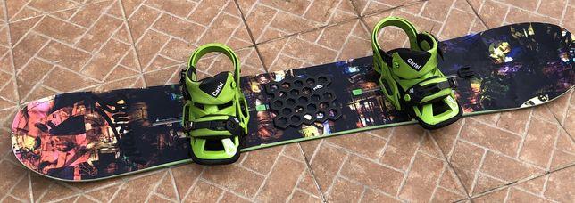 Prancha Snowboard Burton Joystick + Fixadores Burton Cartel