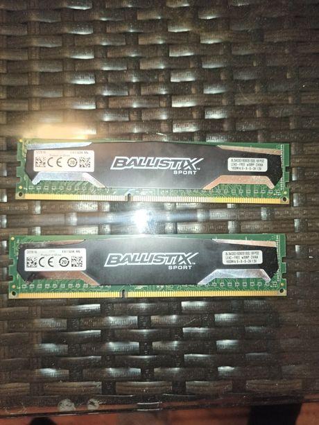 Dwie kości ramu DDR3 1600mhz 4GB