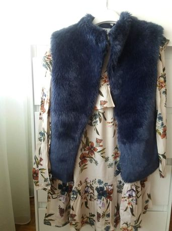 Conjunto colete e vestido