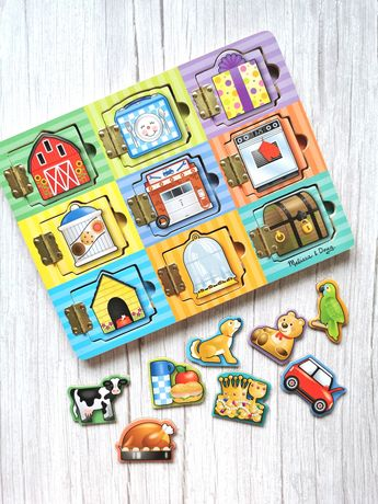 Melissa&Doug drewniana zabawka edukacyjna Ukryj i Szukaj