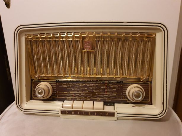 Stare radio lampowe Philips Philetta B2D93 A 1959 rok