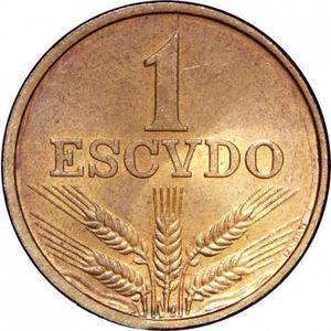 Moedas 1 escudo tamanho grande 1969 a 1979