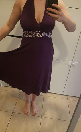 Sukienka fioletowa Bonprix r. 38/40 ciąża