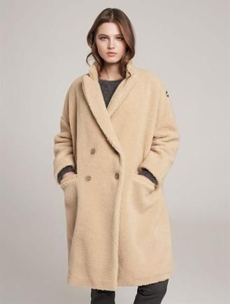 Новое меховое пальто Colmar Италия оверсайз teddy оригинал шуба тедди