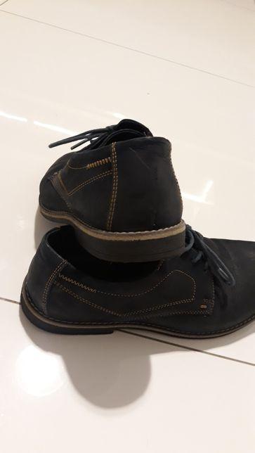 Pantofle Trzewiki Mokasyny skórzane Lasocki young 36 granatowe skóra