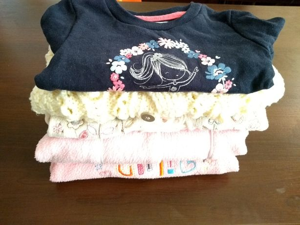5 sweterków sweterki sweter sweterek bluza 68 74