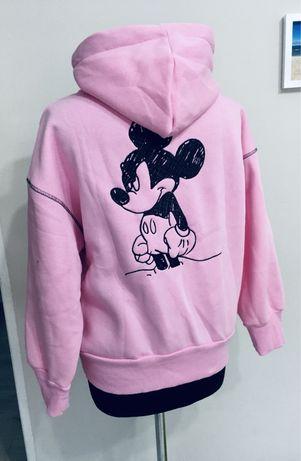 Nowa bluza Mickey oversize Cukierkowy róż