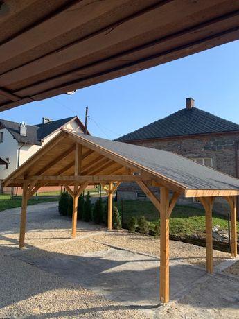 Drewniana wiata garażowa 6m x 5,5m garaż dwustanowiskowy OD RĘKI