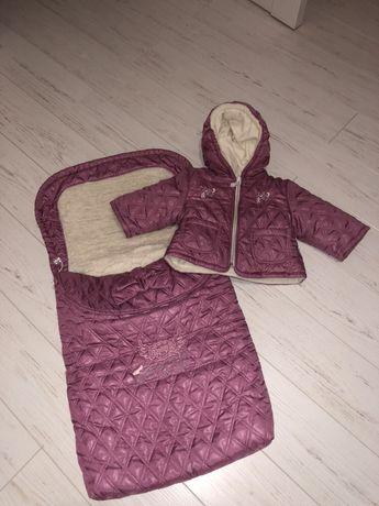 Зимний комплект куртка и конверт в коляску