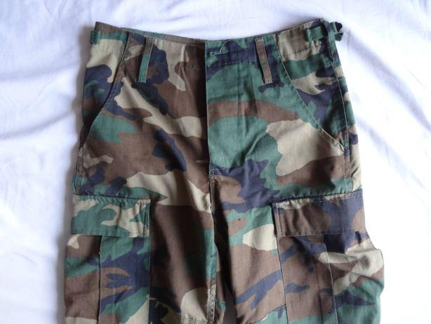 Spodnie wojskowe bojówki US PANTS BDU moro rozmiar XS