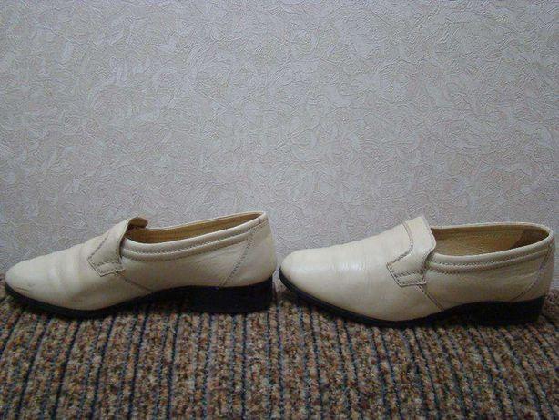 туфли мужские светлые б/у
