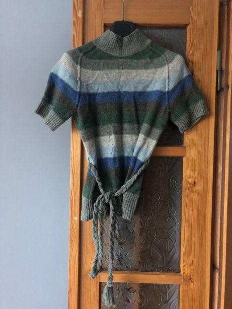 Sonia Rykiel - wełniany sweter z krótkim rękawem