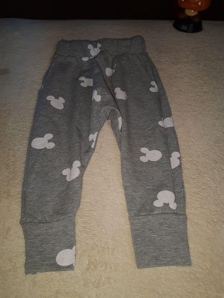 Spodnie Myszka Mickey, rozmiar 86