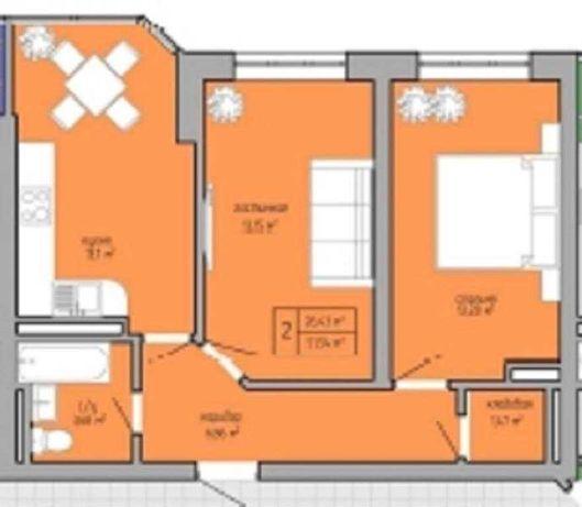 Продам 2 комнатную в сданном доме на Вильямвса