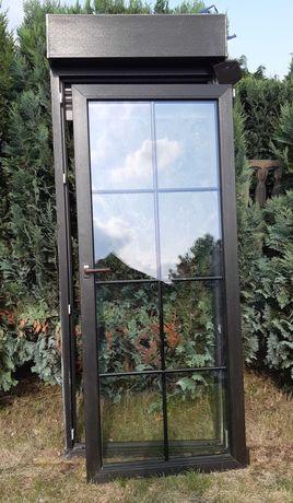 Drzwi balkonowe PCV z roletą