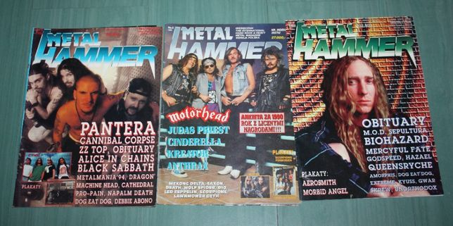 Magazyn, czasopismo Metal Hammer - 3 sztuki