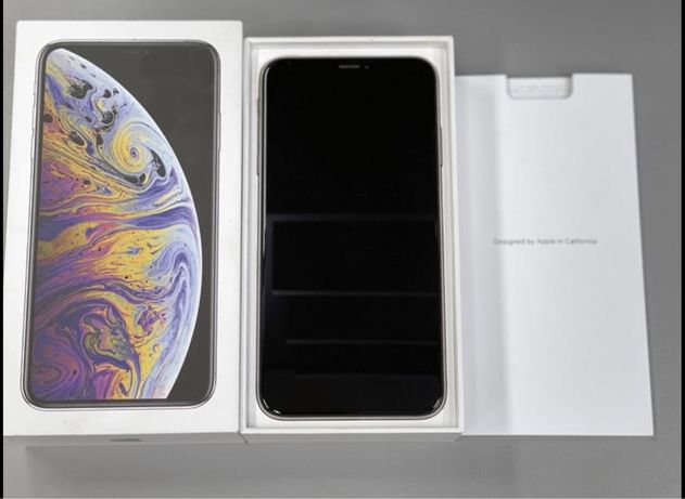 iPhone Xs Max 64 GB Silver Bateria 95% Srebrny