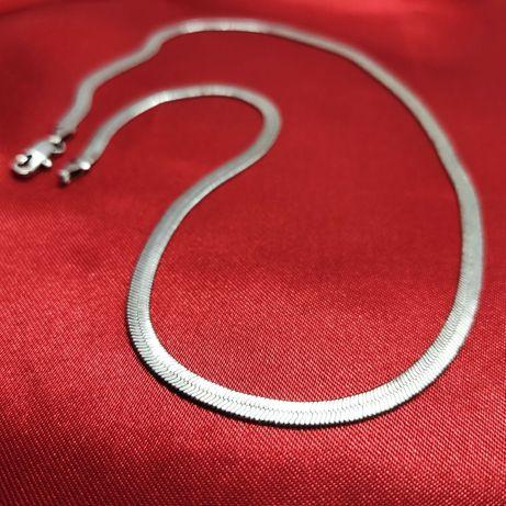 Серебряная цепочка унисекс 925 пробы снейк плетение