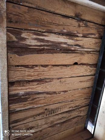 Skrzyniopaleta drewniano metalowa