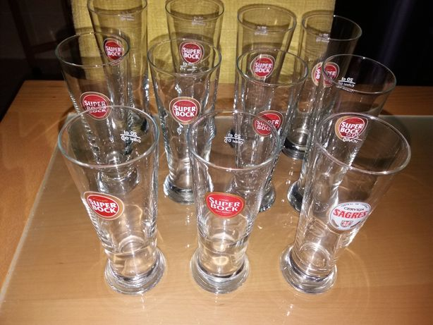 Copos de cerveja NOVOS -Sagres, Super Bock, edição limitada expo 98