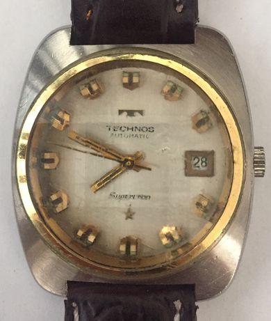 Relógio automático antigo, de coleção raro, TECHNOS supercron.