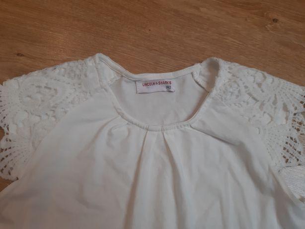 Białe koszulki r.140